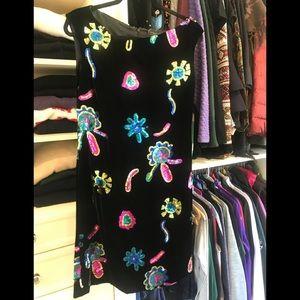 Christian Lacroix velvet sequin dress